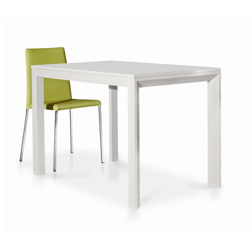 Bílý dřevěný rozkládací jídelní stůl Castagnetti Avolo, 130 cm