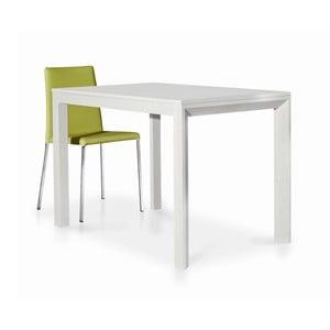 Bílý dřevěný rozkládací jídelní stůl Castagnetti Avolo, 130cm