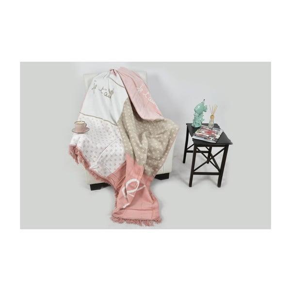 Deka s příměsí bavlny Aksu Catherine, 200 x 150 cm