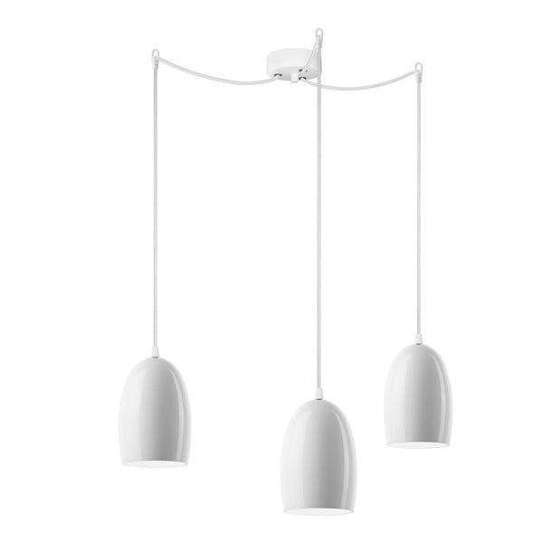 Corp de iluminat triplu UME Elementary, opal sidefat/alb /alb