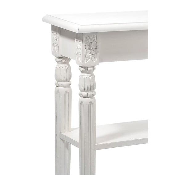 Konzolový stolek Paulownia White, 129x30x85 cm