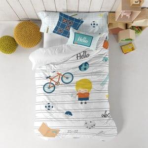 Dětské povlečení z čisté bavlny Happynois Notebook, 140x200cm