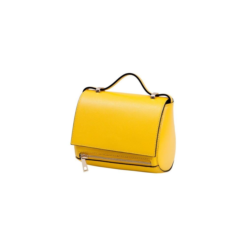 Žlutá kabelka z pravé kůže Andrea Cardone Giosetta a8aa892c823