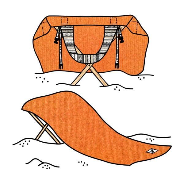 Skládací plážové lehátko a osuška v jednom Sun Seat Tribal