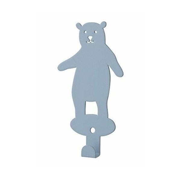 Niebieski haczyk ścienny Bloomingville Bear
