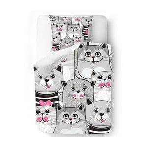 Povlečení Butter Kings Grey Kitties, 140x200 cm