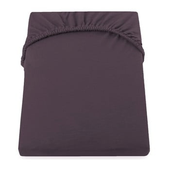 Cearșaf de pat cu elastic DecoKing Nephrite, 220–240 cm, maro-bej închis de la DecoKing