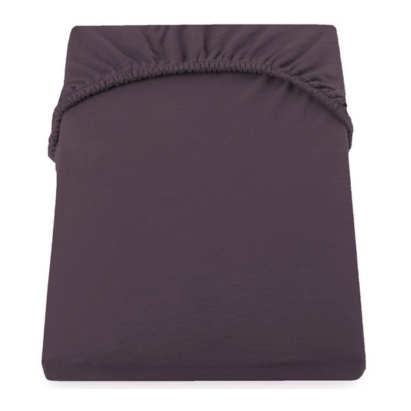 Cearșaf de pat cu elastic DecoKing Nephrite, 220–240 cm, maro-bej închis