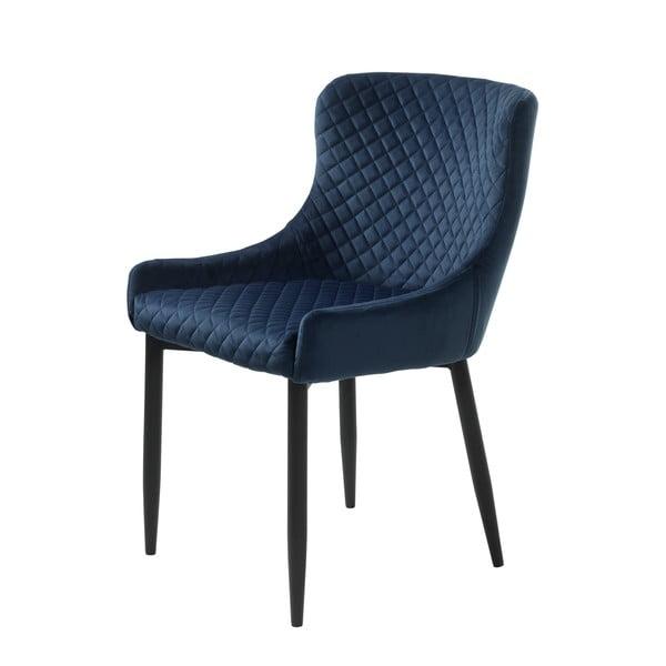 Ciemnoniebieskie krzesło tapicerowane Unique Furniture Ottowa