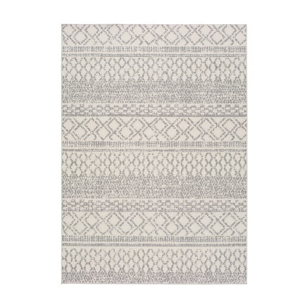 Krémově bílý venkovní koberec Universal Cannes ZigZag, 150 x 80 cm