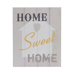Dřevěný obraz Home Sweet Home, 20x25 cm