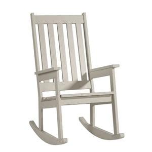 Krémová houpací židle z masivního borovicového dřeva Pinio Rock