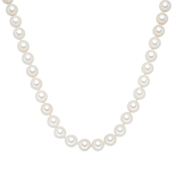 Perlový náhrdelník Muschel, bílé perly 12 mm, délka 50 cm