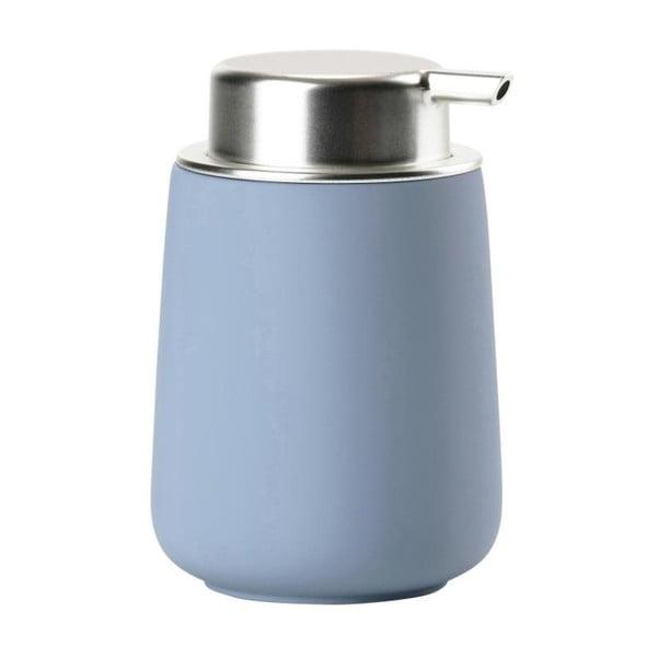 Dispensor din porțelan pentru săpun Zone Blue Fog, 250 ml, albastru