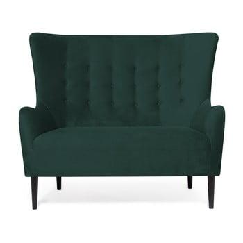 Canapea cu 2 locuri Vivonita Blair, verde închis de la Vivonita