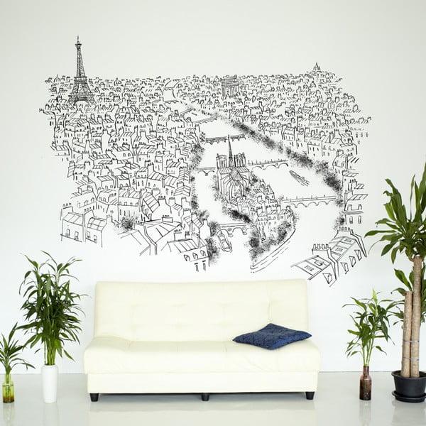 Samolepka Paris River Seine, 110x145 cm