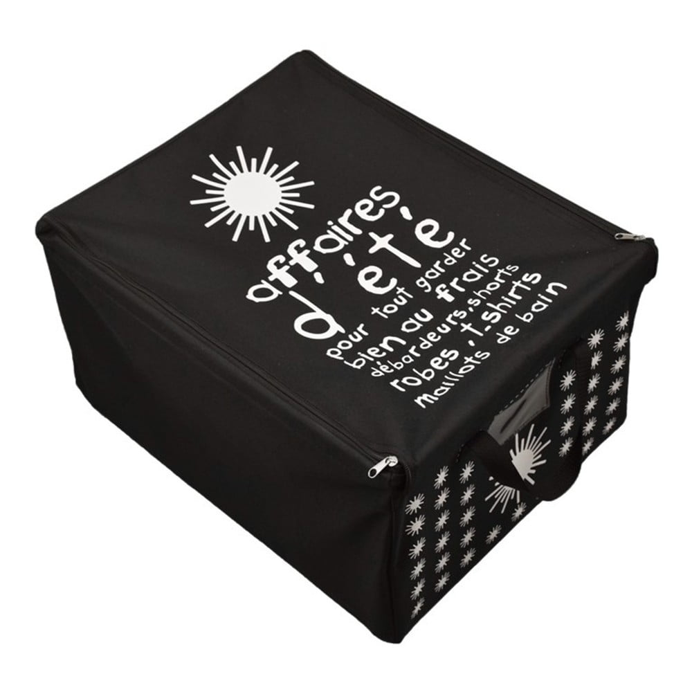Černý úložný box na letní oblečení Incidence T3