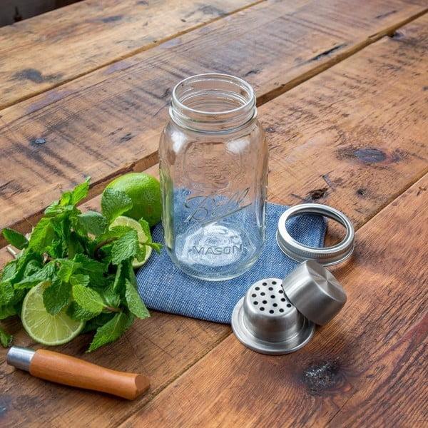 Shaker din sticlă cu dop argintiu W&P Design The Mason