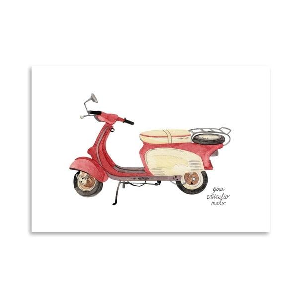 Autorský plakát Scooter, 30x42 cm