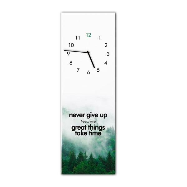 Ceas de perete Styler Glassclock Great Things, 20 x 60 cm
