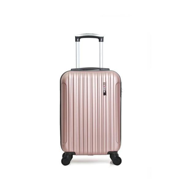 Ružový cestovný kufor na kolieskach Bluestar Margo, 37 l