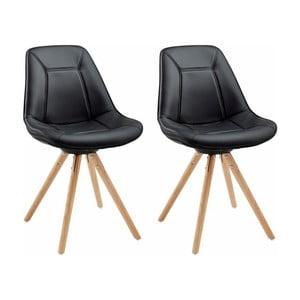 Sada 2 černých jídelních židlí Støraa Mel