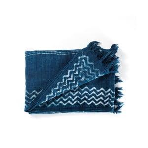 Modrý bavlněný pléd Tomasucci Jewel