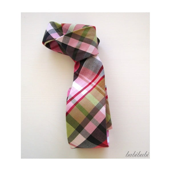 Barevná károvaná kravata