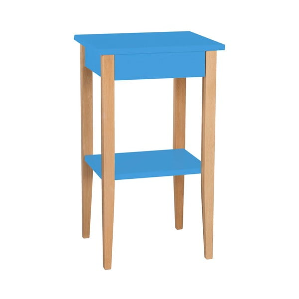 Modrý odkládací stolek Ragaba Entlik