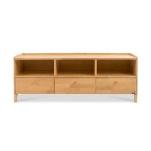 Ručně vyráběný TV stolek z masivního březového dřeva se 3 zásuvkami Kiteen Matinea