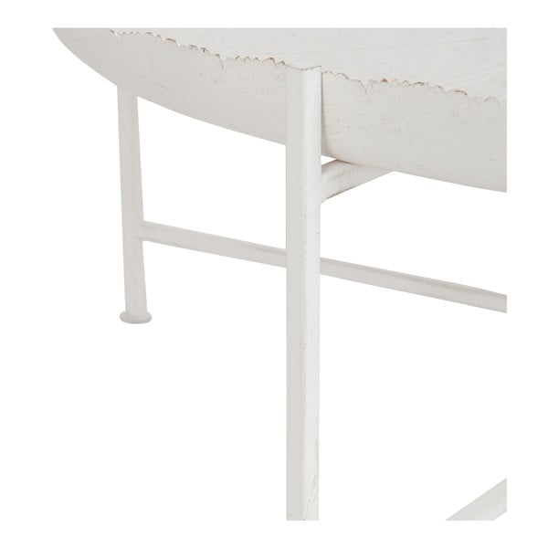 Bílý odkládací stolek J-LineLove