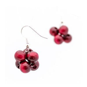 Tmavě červené náušnice ko–ra–le Berries