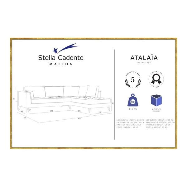 Světle hnědá rohová pohovka Stella Cadente Maison Atalaia, pravý roh