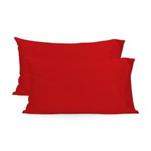 Sada 2 červených povlaků na polštář HF Living Basic, 50x80cm