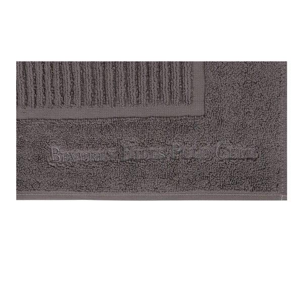 Sada dvou šedých koupelnových předložek s pruhovanýcm detailem Beverly Hills Polo Club, 86x 50cm
