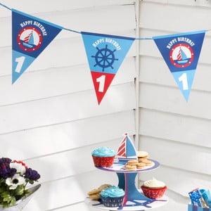 Balení papírových vlaječek Neviti Ahoy There 1st Birthday