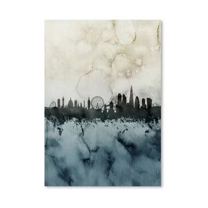 Plakát Americanflat London Town Skyline, 42 x 30 cm