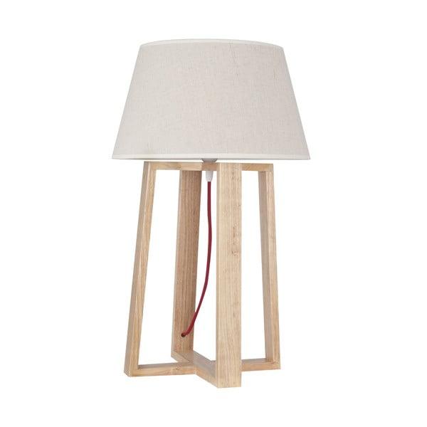 Stolní lampa s dřevěnou základnou Simon
