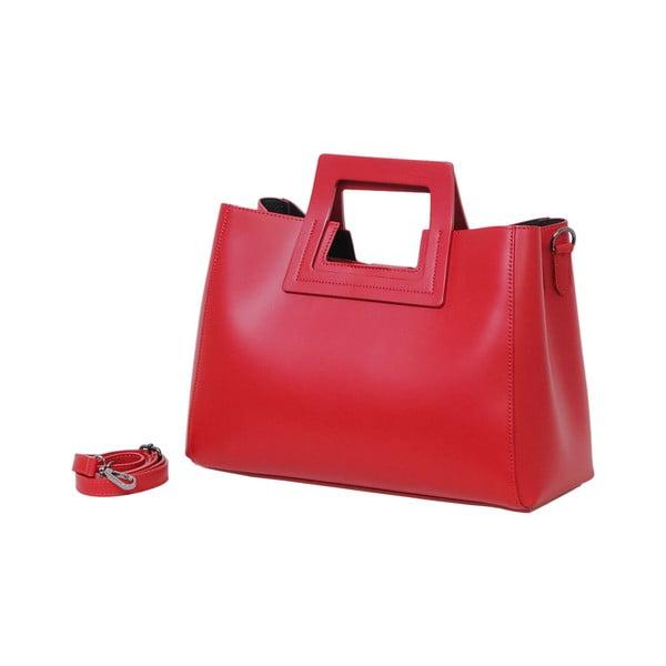 Červená kabelka z pravé kůže Andrea Cardone Pietro