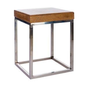 Odkládací stolek Cross Natural, 45x45x60 cm