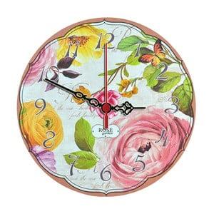 Nástěnné hodiny Rose Garden, 30 cm