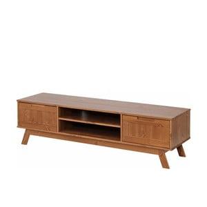 Nízká hnědá dřevěná skříňka Støraa Olly
