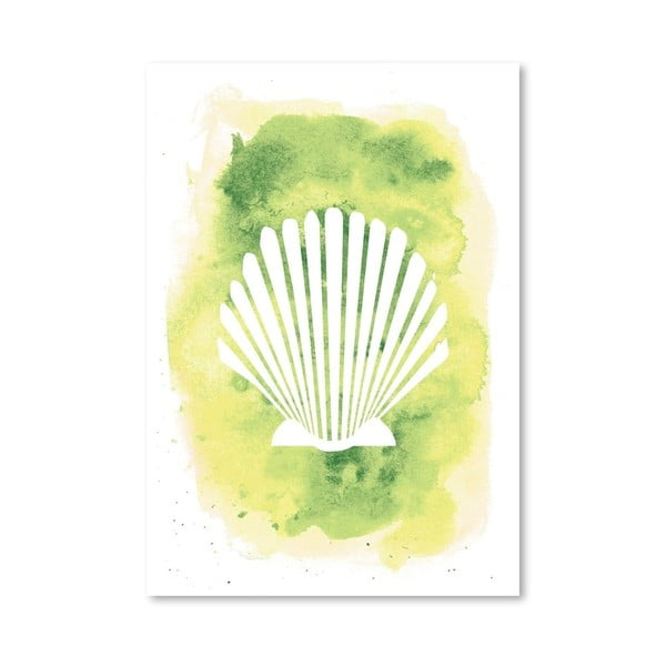 Plakát Watercolor Scallop Shell