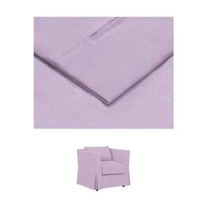 Světle fialový povlak na křeslo THE CLASSIC LIVING Jean