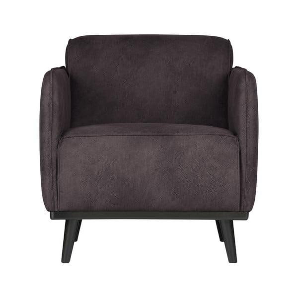 Velvet szürke fotel öko bőrből - BePureHome