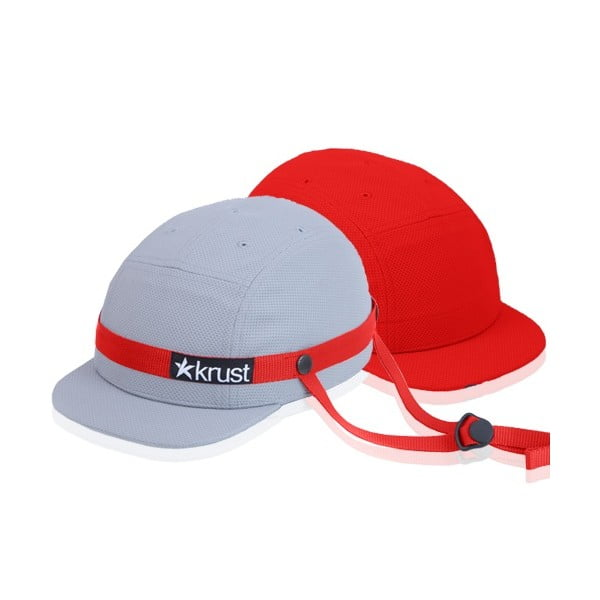 Cyklistická přilba Krust grey/red/red s náhradní čepičkou, velikost M/L