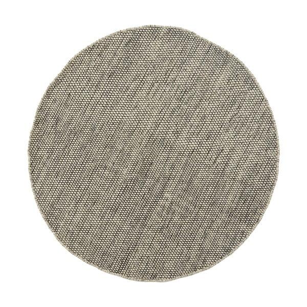 Vlněný koberec Asko, 150 cm, šedobéžový