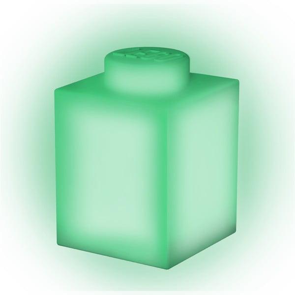 Zielona silikonowa lampka nocna LEGO® Classic Brick