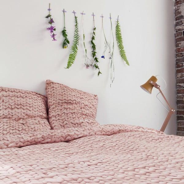 Růžové bavlněné povlečení Snurk Dusty,140x200cm