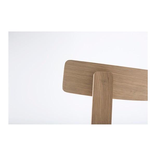 Jídelní židle z masivního dubového dřeva se šedým sedákem Gazzda Nora